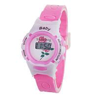Детские электронные наручные часы Disegni rose