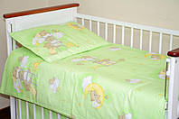 Постель в детскую кроватку из 3-ед-зеленые мишки на лестнице