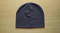 Демисезонная шапка серого цвета на ребенка