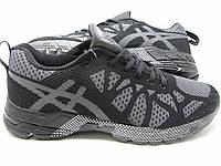 Женские кроссовки Asics черно-серого цвета