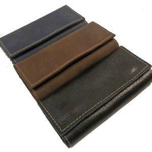 Стильная ключница на 6 колец SB 1995 156 черная, коричневая, синяя