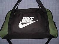 Багажная сумка Nike 013675 большая (55х33х22, см) черная с зеленым спортивная дорожная текстиль