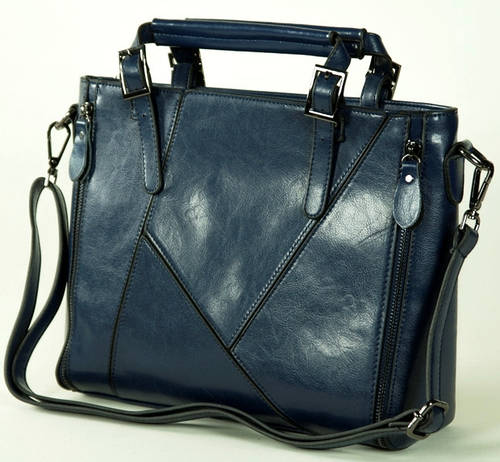 Удобная вместительная женская сумка,  PU кожа, Traum 7315-03 синий