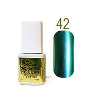 Гель-лак Зеркальный Velena Gelliant №42 (лесной зеленый) 9 мл