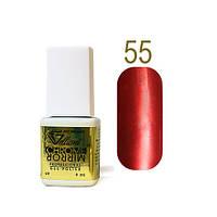 Гель-лак Зеркальный Velena Gelliant №55 (насыщенный красный) 9 мл