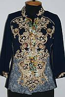 Блуза рубашка женская 50-60 размер летняя трикотажная