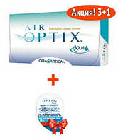 Акция! Контактные линзы Air Optix Aqua (4 линзы)