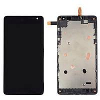 Nokia Lumia 535 LCD, модуль, дисплей с сенсорным экраном с рамкой в сборе