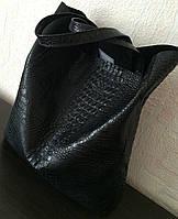 Сумка-мешок натуральная кожа под рептилию