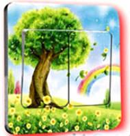 Наклейка на выключатель Дерево 3D декор