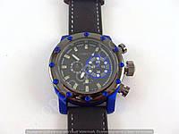 Мужские часы Invicta 3465 (013682) черные с синими вставками и календарем