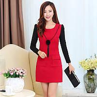 Стильное зимнее женское платье. Модель 05308