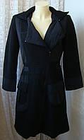 Пальто женское модное плащ с капюшоном шерсть бренд CarnaBy р.44-46 5036а