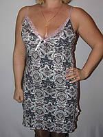 Женская ночная рубашка на тонких брительках, вискоза