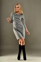 Платье французский трикотаж / серое