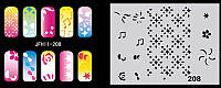 Трафареты для nail art №11_208 пластиковые (многоразовые)