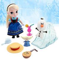 Игровой набор Дисней мини кукла Эльза с аксессуарами  Disney Animators' Collection Elsa Mini Doll Play Set