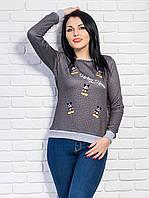 Очень красивая модная кофточка  вышивкой 1346 (В.И.К)