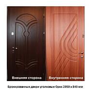 Бронированные двери уголковые Орех