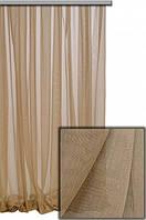 Ткань Нирвана с фактурой льна для пошива легких занавесок
