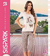 """Женская пижама """"SISPARK"""" №73 (капри)"""