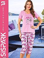 """Женская пижама """"SISPARK"""" №74 (капри)"""