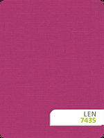 РУлонные шторы льон Len 7435 фуксия