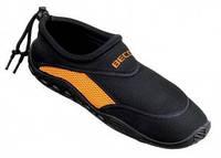 Тапочки для плавания и серфинга BECO чёрный/оранжевый 9217 03