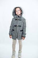 Детское утепленное шерстяное пальто, декор кожзам; размеры от 86 до 140