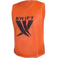 Манишка тренировочная детская оранжевая (сетка) SWIFT
