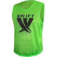 Манишка тренировочная детская салатовая (сетка)SWIFT