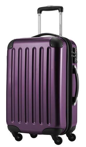 4-колесный вместительный малый чемодан из поликарбоната 45 л. HAUPTSTADTKOFFER alex mini violet фиолетовый
