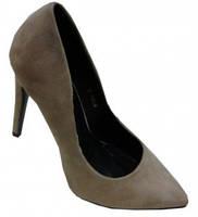 Туфли женские на каблуку бежевые