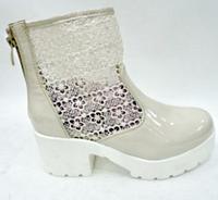 Модные весенние женские ботинки 288 бежевые