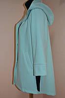 Пальто женское бирюзовое