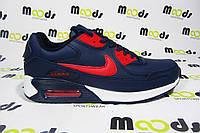Мужские повседневные кроссовки Nike Air Max, кожа, синие, Р. 45
