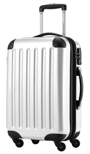 Надежный качественный малый 4-колесный чемодан из поликарбоната 45 л. HAUPTSTADTKOFFER alex mini white белый