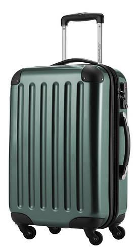 Качественный 4-колесный малый чемодан из поликарбоната 45 л. HAUPTSTADTKOFFER alex mini olive темно-зеленый