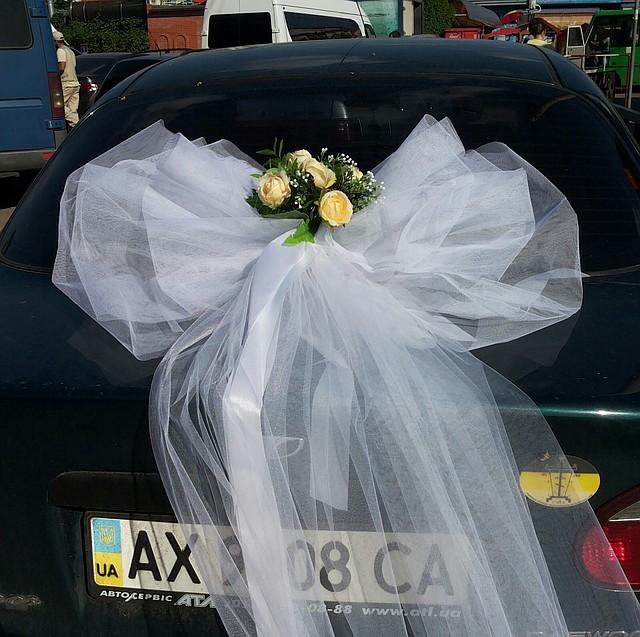 Подвязка невесты из атласных лент