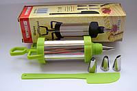Кондитерский шприц(пистолет) с 4 насадками для крема !