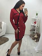 Платье-пиджак с имитацией застежки на пуговицы