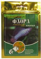 Корм Флора в хлопьях, растительный корм для травоядных рыб, 100 мл