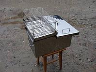 Коптильня с гидрозатвором для горячего копчения (400х280х280). Для копчения рыбы, мяса, сала. Код: КЕ437