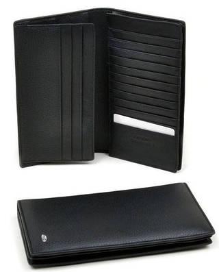 Эксклюзивный мужской портмоне из натуральной кожи dr.Bond M68 black черный