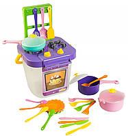 Набор игрушечной посуды Тигрес Ромашка с плитой, в асс. (39153)