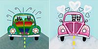 """Схема для вышивания бисером на подрамнике (для детей) """"Путешествие-1"""""""