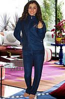 Махровый костюм (кофта и брюки) (Темно синий)