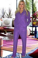 Махровый костюм (кофта и брюки)  (Фиолетовый)