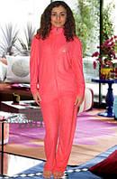 Махровый костюм (кофта и брюки) (Красный)