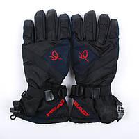 Лыжные зимние теплые перчатки HEAD женские, черные